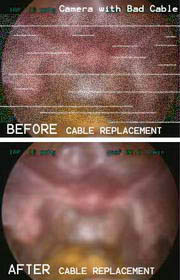 Stryker camera - Example of bad cable with static picture